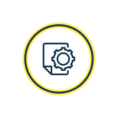 Vector illustration of SEO report icon line. Beautiful advertising element also can be used as file option icon element.