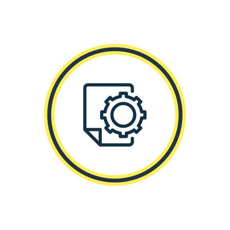 Vektor-Illustration der SEO-Bericht-Icon-Linie. Schönes Werbeelement kann auch als Dateioptionssymbol verwendet werden.