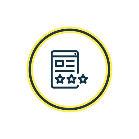 illustration of page quality icon line. Beautiful marketing element also can be used as website rating icon element. Stok Fotoğraf