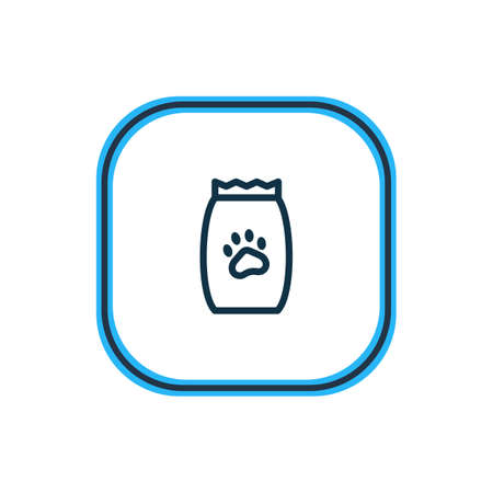Vector illustration of pet food icon line. Beautiful fauna element also can be used as kibble icon element. Illustration