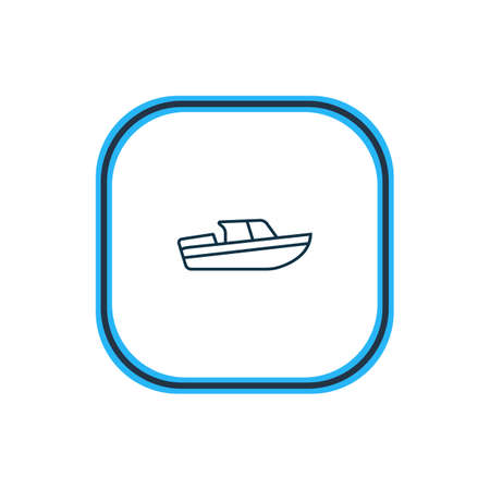 Vector illustration of boat icon line. Beautiful transport element also can be used as ship icon element.