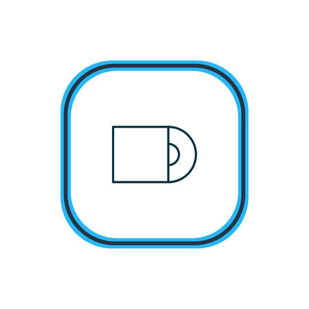 Vector illustration of cd-rom icon line. Beautiful hardware element also can be used as dvd drive icon element.
