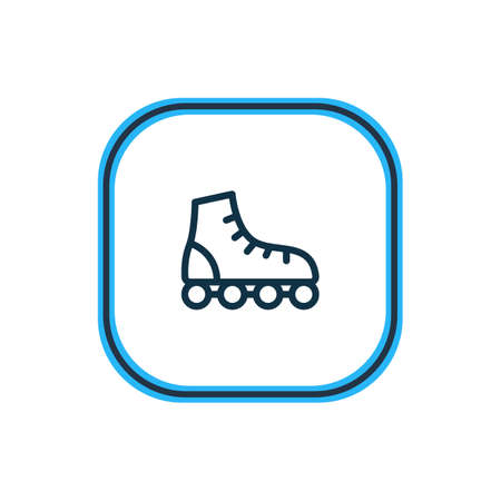 Vector illustration of roller skates icon line. Beautiful vehicle element also can be used as rollerblading icon element.