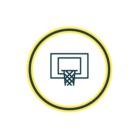 Vector illustration of hoop icon line. Beautiful fitness element also can be used as basketball  icon element.