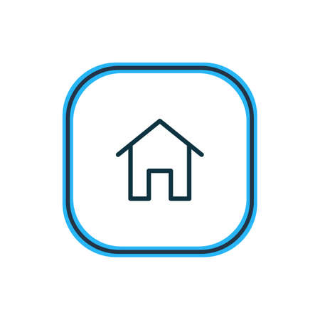 Vector illustration of home icon line. Beautiful annex element also can be used as house icon element.