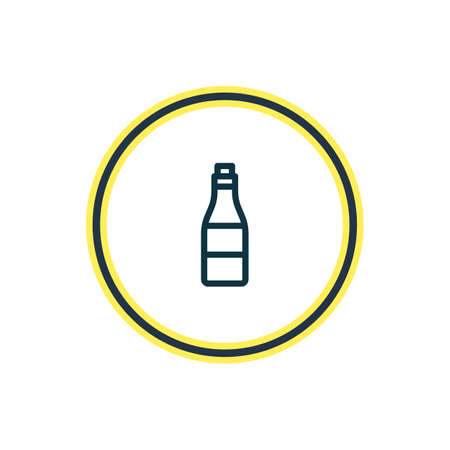 Vector illustration of alcohol icon line. Beautiful joy element also can be used as beverage icon element.