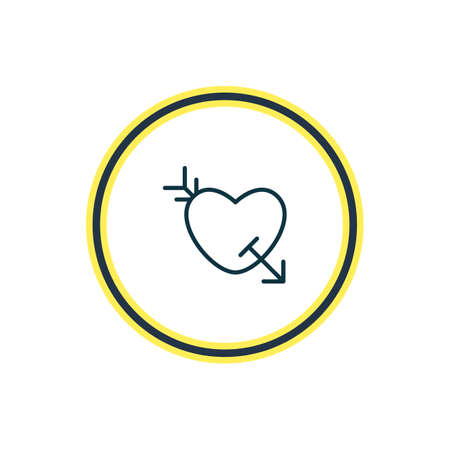 Vector illustration of love icon line. Beautiful love element also can be used as arrow  icon element. 向量圖像
