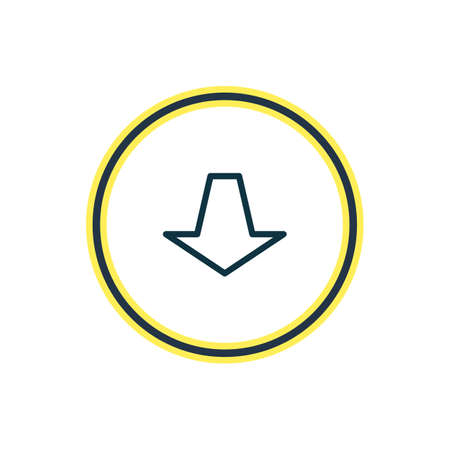 illustration of pull icon line. Beautiful memory element also can be used as downward icon element.