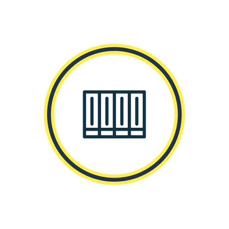 Vector illustration of publication icon line. Beautiful read element also can be used as education icon element.