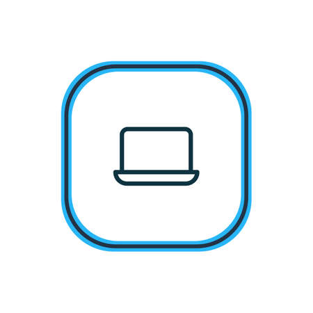 illustration of laptop icon line. Beautiful office element also can be used as monitor icon element.