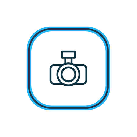illustration of photo apparatus icon line. Beautiful media element also can be used as camera icon element.