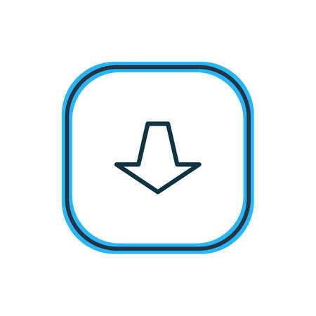 Vector illustration of pull icon line. Beautiful memory element also can be used as downward icon element.