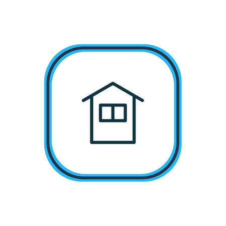 Vector illustration of house icon line. Beautiful bureau element also can be used as home icon element.