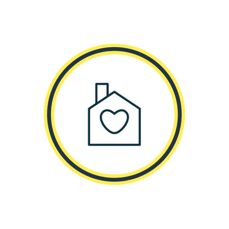 Vector illustration of house icon line. Beautiful love element also can be used as home  icon element.