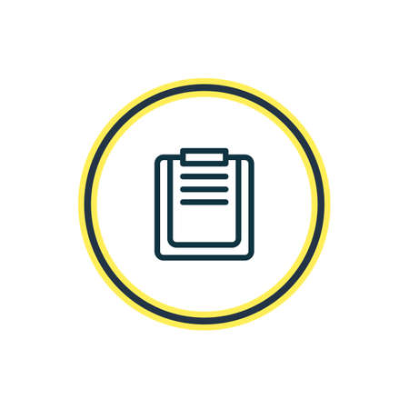 illustration of file board icon line. Beautiful office element also can be used as checklist icon element.