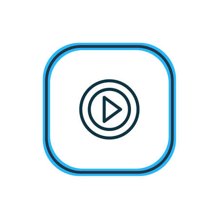 illustration of video icon line. Beautiful media element also can be used as movie icon element.