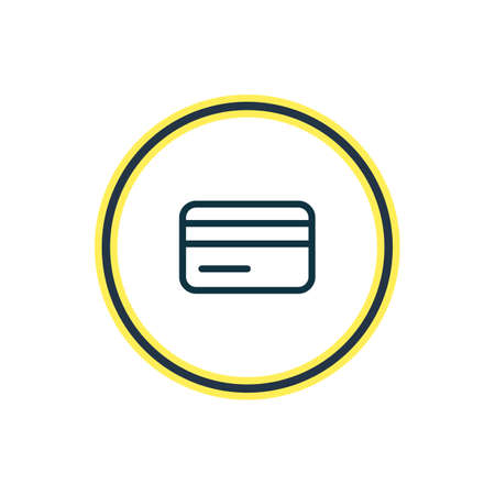 Vector illustration of credit card icon line. Beautiful annex element also can be used as payment icon element.