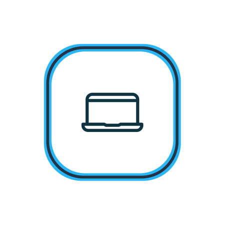 illustration of laptop icon line. Beautiful connect element also can be used as portable computer icon element.