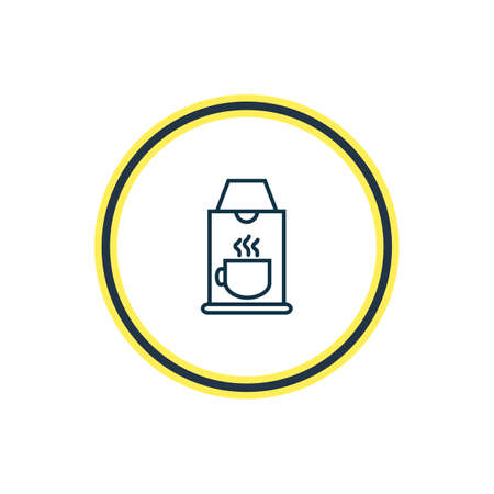 Vector illustration of coffee machine icon line. Beautiful vacation element also can be used as coffeemaker icon element. Illustration
