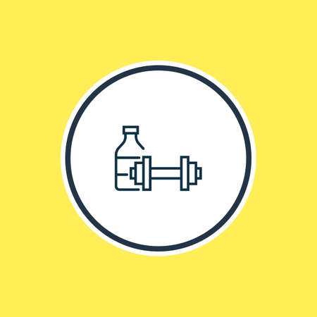 Vector illustration of fitness room icon line. Beautiful tourism element also can be used as gym icon element.