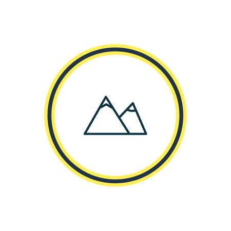 Vector illustration of mountain icon line. Beautiful summer element also can be used as hill  icon element.