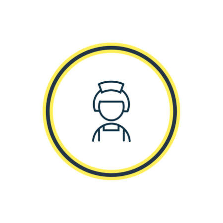 illustration of hotel maid icon line. Beautiful travel element also can be used as housewife icon element.