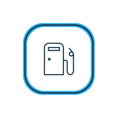 illustration of gas station icon line. Beautiful transport element also can be used as fuel icon element.