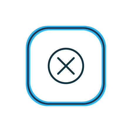 illustration of close icon line. Beautiful annex element also can be used as locked icon element.