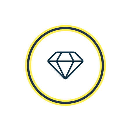 Vector illustration of diamond icon line. Beautiful celebration element also can be used as brilliant icon element. 向量圖像