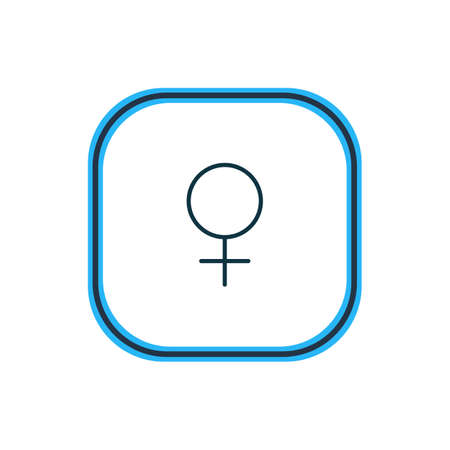 Vector illustration of female icon line. Beautiful amour element also can be used as woman  icon element.
