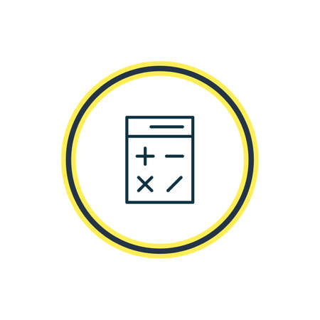 illustration of calculator icon line. Beautiful instruments element also can be used as calculate   icon element.