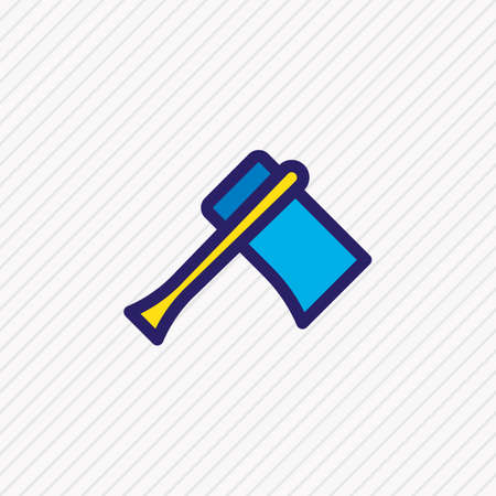 Vector illustration of axe icon colored line. Beautiful camping element also can be used as hatchet icon element. 向量圖像