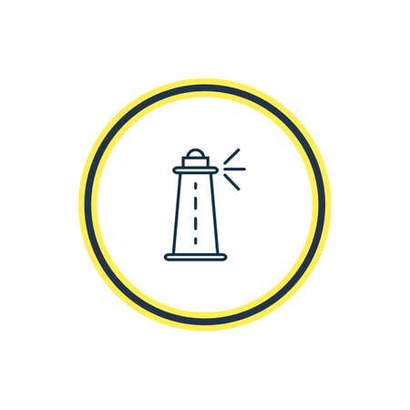 Illustration vectorielle de la ligne d'icône de phare. Un bel élément de transport peut également être utilisé comme élément d'icône de la côte.