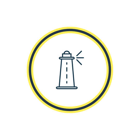 Vector illustration of lighthouse icon line. Beautiful transport element also can be used as coast icon element.