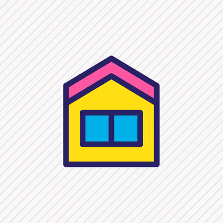 Vector illustration of house icon colored line. Beautiful architecture element also can be used as home icon element.