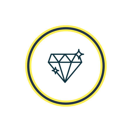 illustration of diamond icon line. Beautiful engagement element also can be used as brilliant icon element.