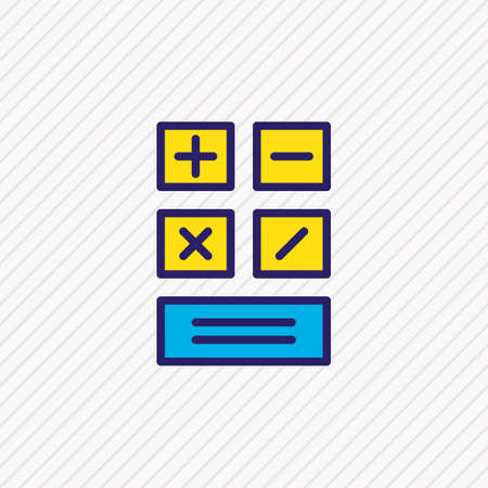 Vector illustration of calculator icon colored line. Beautiful business element also can be used as calculate icon element.