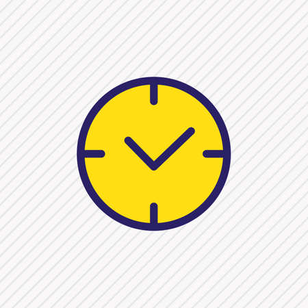 Vector illustration of time icon colored line. Beautiful application element also can be used as clock icon element.