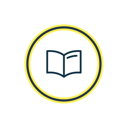 illustration of handbook icon line. Beautiful read element also can be used as learning icon element.