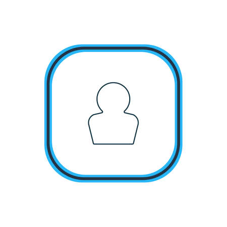 illustration of profile icon line. Beautiful interface element also can be used as avatar icon element. 스톡 콘텐츠