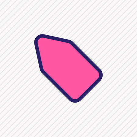 Vector illustration of tag icon colored line. Beautiful app element also can be used as label icon element.