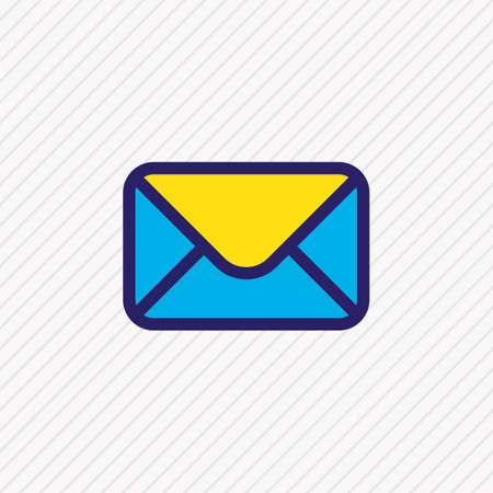 Vector illustration of mail icon colored line. Beautiful annex element also can be used as letter icon element.