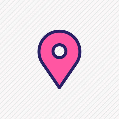 Vector illustration of location icon colored line. Beautiful annex element also can be used as pin icon element.