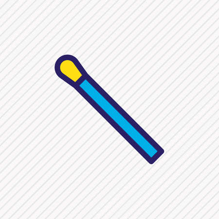 illustration of match icon colored line. Beautiful camping element also can be used as matchstick icon element.