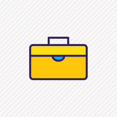 Vector illustration of briefcase icon colored line. Beautiful management element also can be used as suitcase icon element.