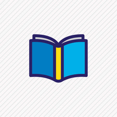 Vector illustration of learn icon colored line. Beautiful book reading element also can be used as publishing icon element.