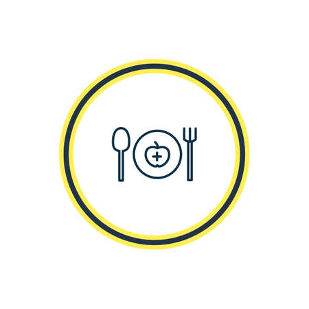 Vector illustration of healthy food icon line. Beautiful activities element also can be used as dishware icon element.