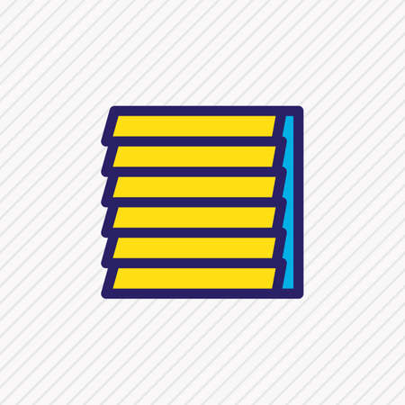 Vector illustration of window siding icon colored line. Beautiful industry element also can be used as jalousie icon element.