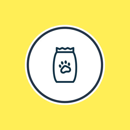 Vector illustration of pet food icon line. Beautiful zoo element also can be used as kibble icon element. Illustration
