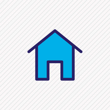 Vector illustration of home icon colored line. Beautiful application element also can be used as house icon element. 向量圖像